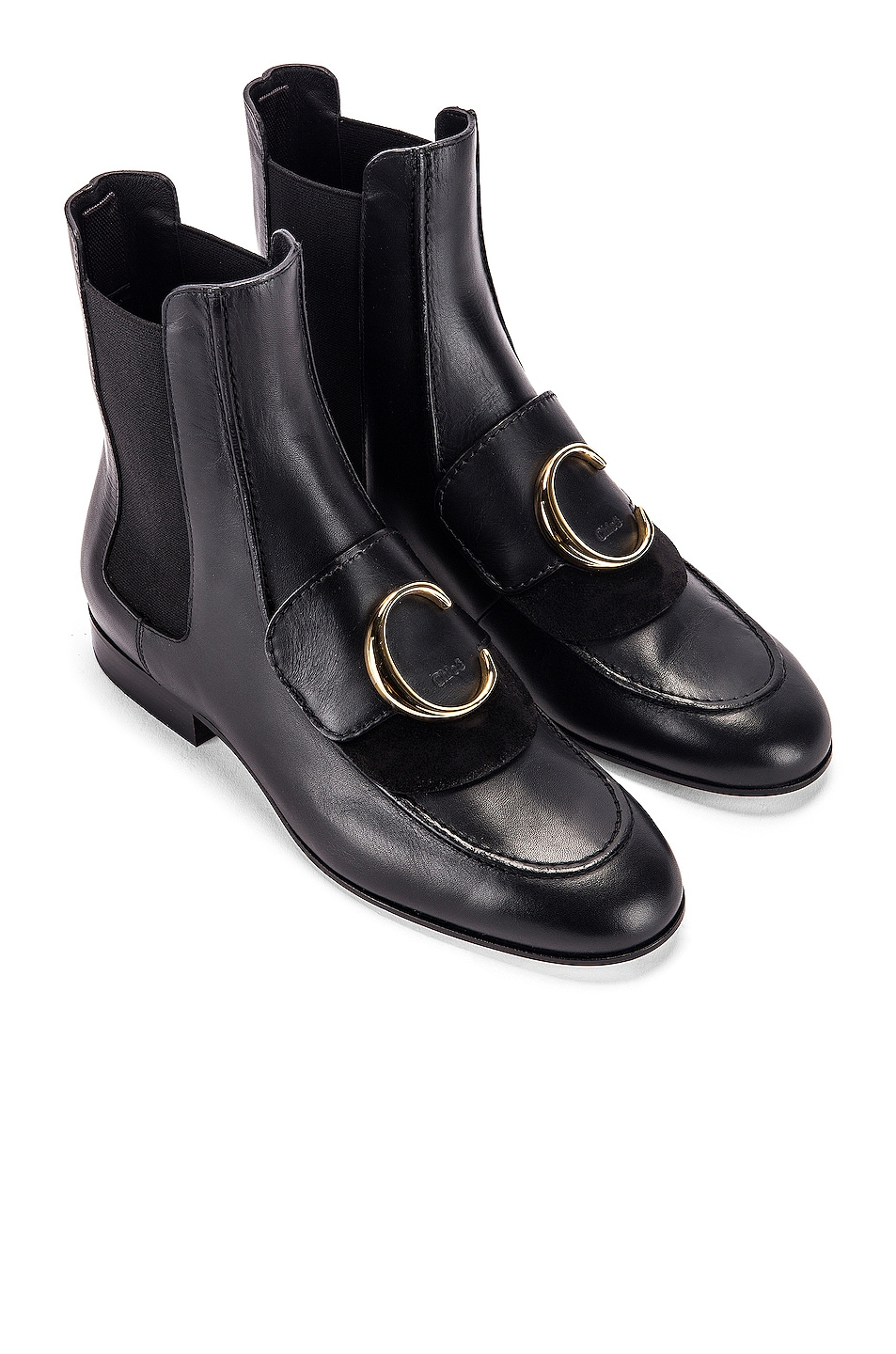 Image 1 of Chloe C Ankle Boots in Black