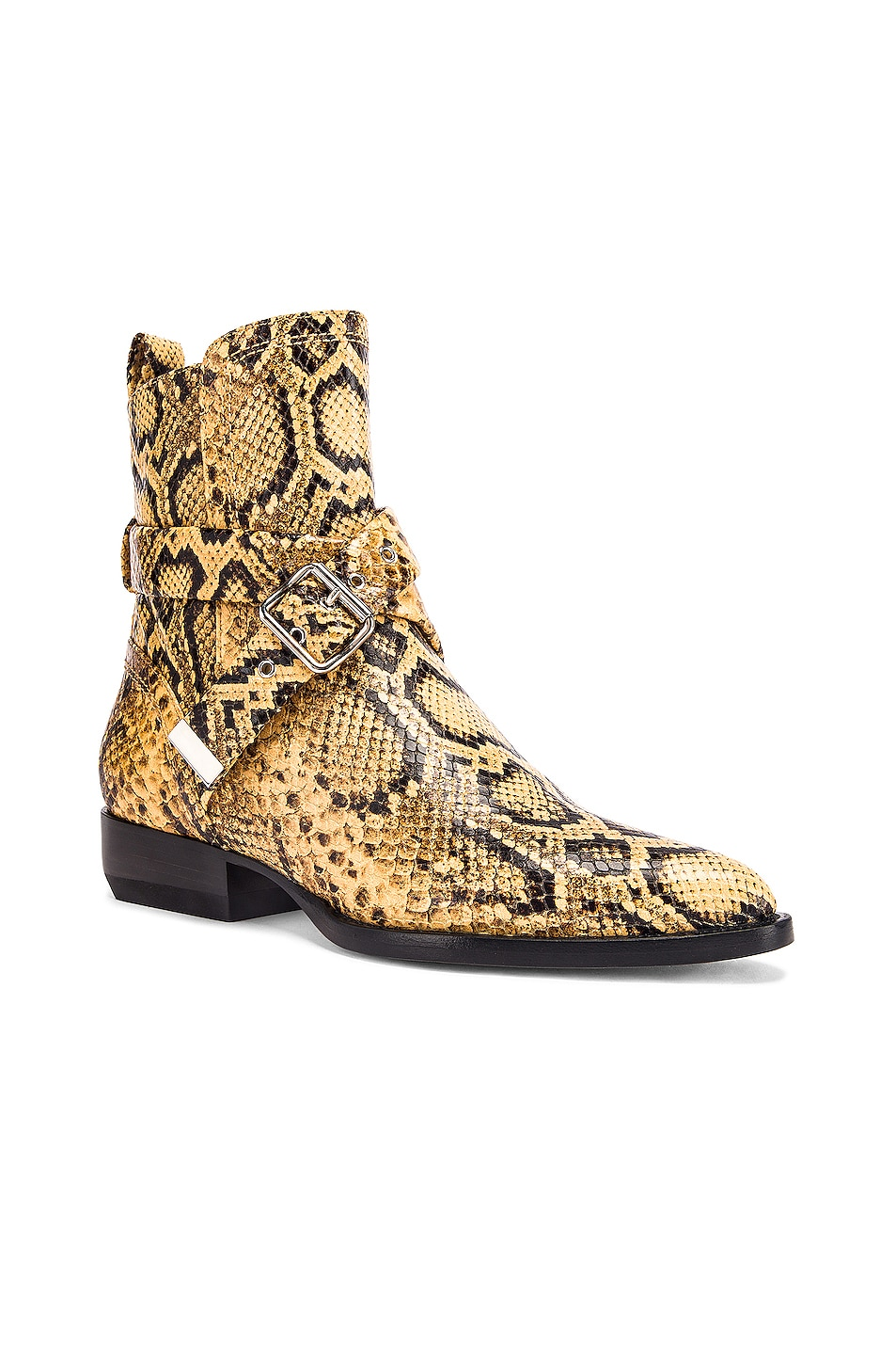 Image 2 of Chloe Python Print Rylee Boots in Wheat Yellow
