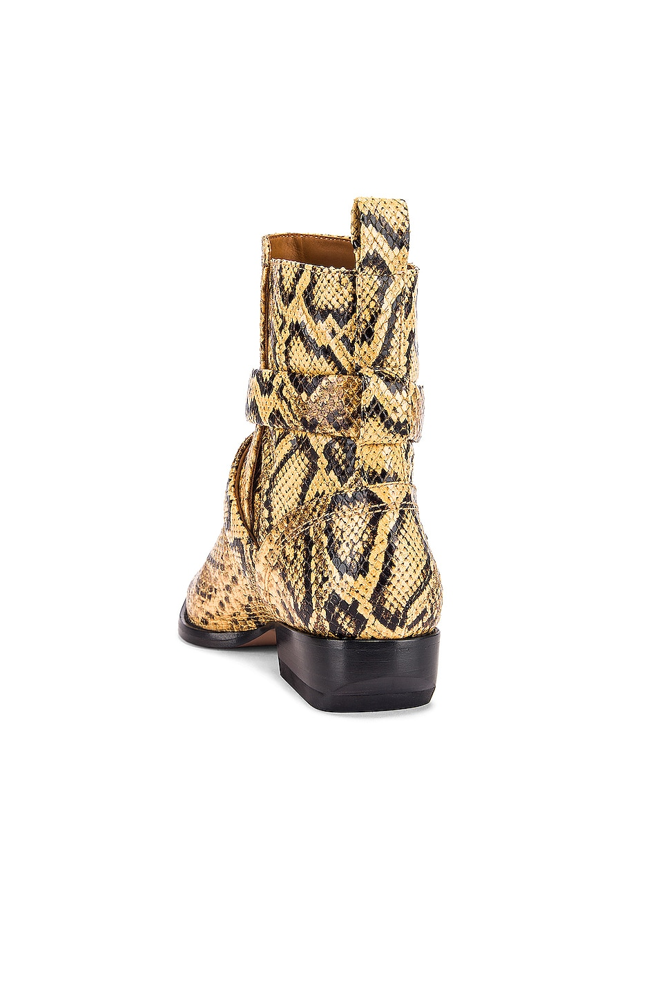 Image 3 of Chloe Python Print Rylee Boots in Wheat Yellow