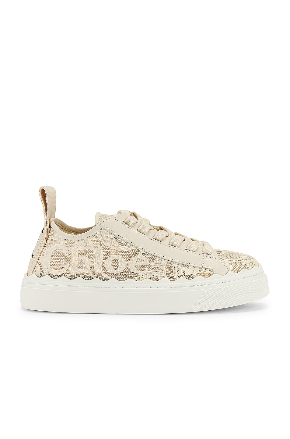 Image 1 of Chloe Lauren Lace Sneakers in Mild Beige