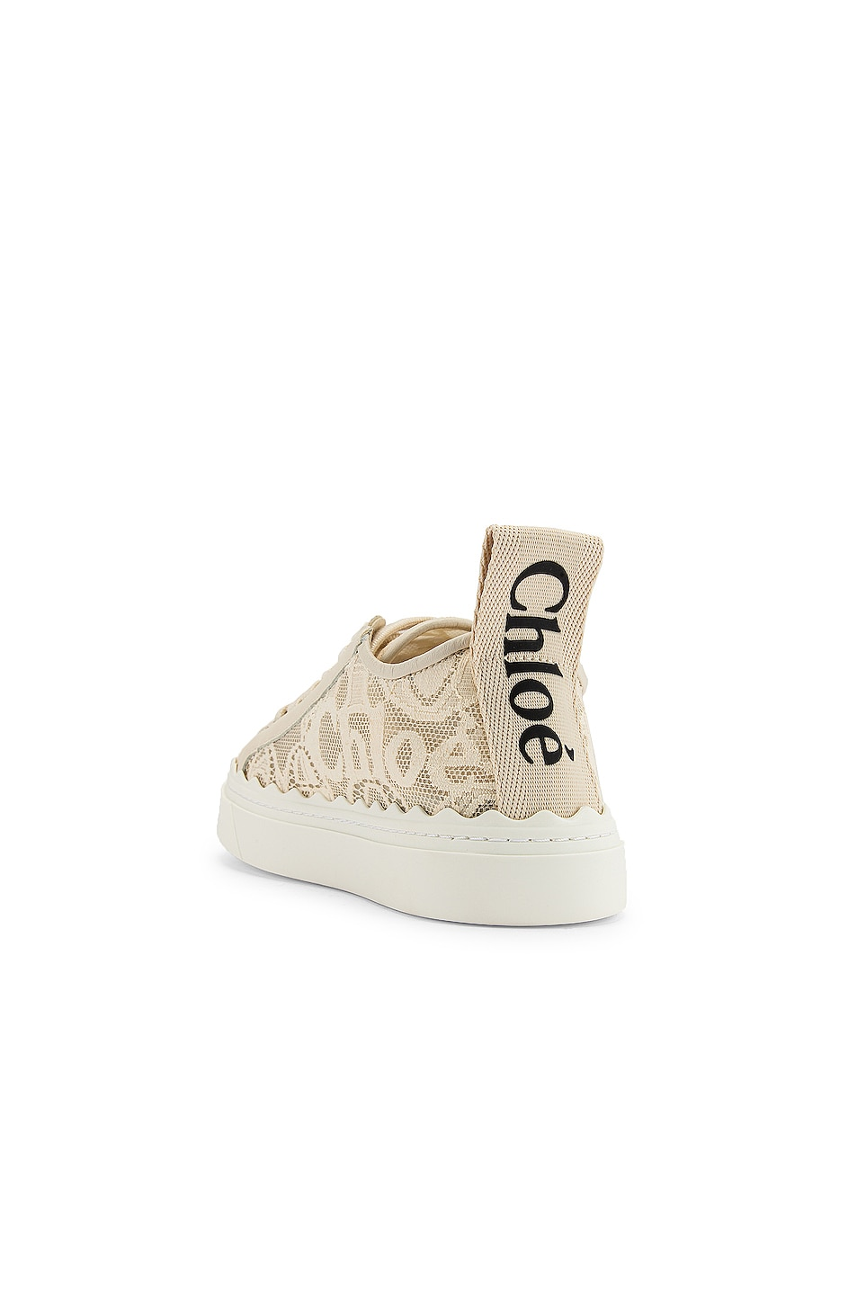 Image 3 of Chloe Lauren Lace Sneakers in Mild Beige