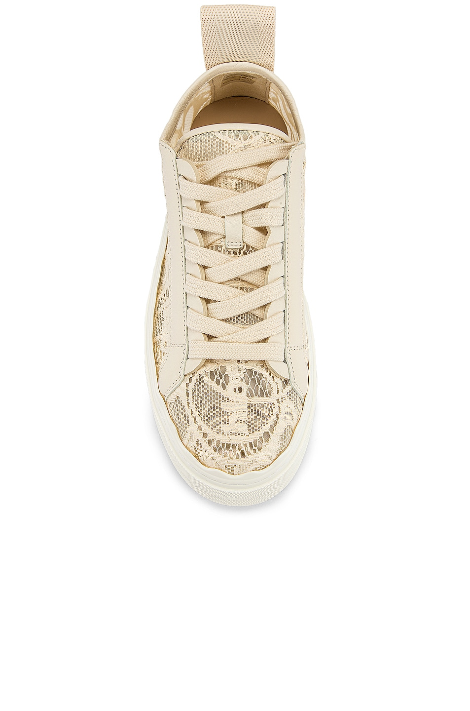 Image 4 of Chloe Lauren Lace Sneakers in Mild Beige
