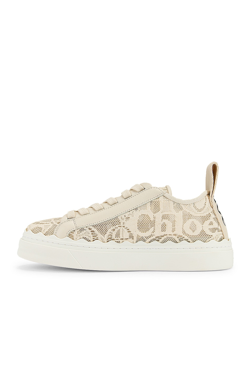 Image 5 of Chloe Lauren Lace Sneakers in Mild Beige