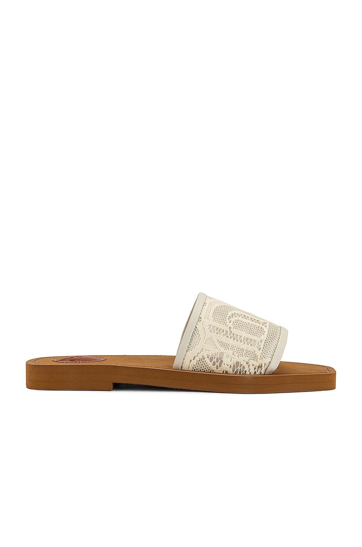 Image 2 of Chloe Woody Lace Slides in Mild Beige