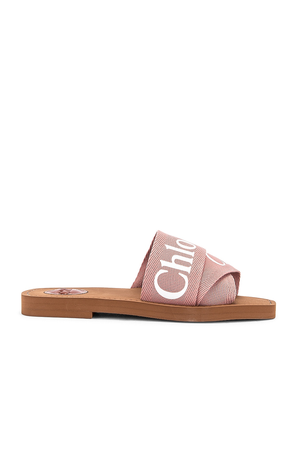 Image 2 of Chloe Logo Slides in Delicate Pink