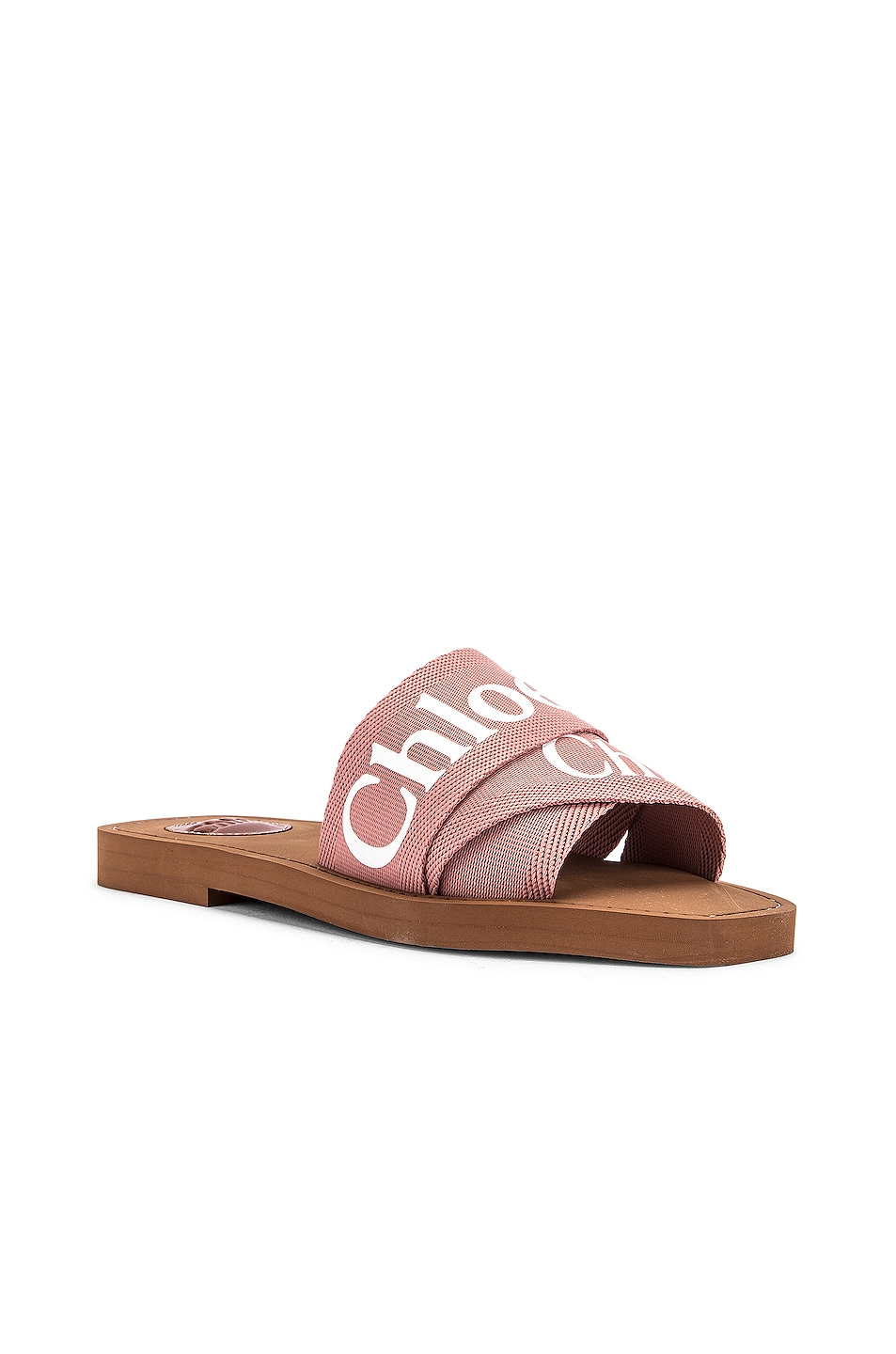Image 3 of Chloe Logo Slides in Delicate Pink