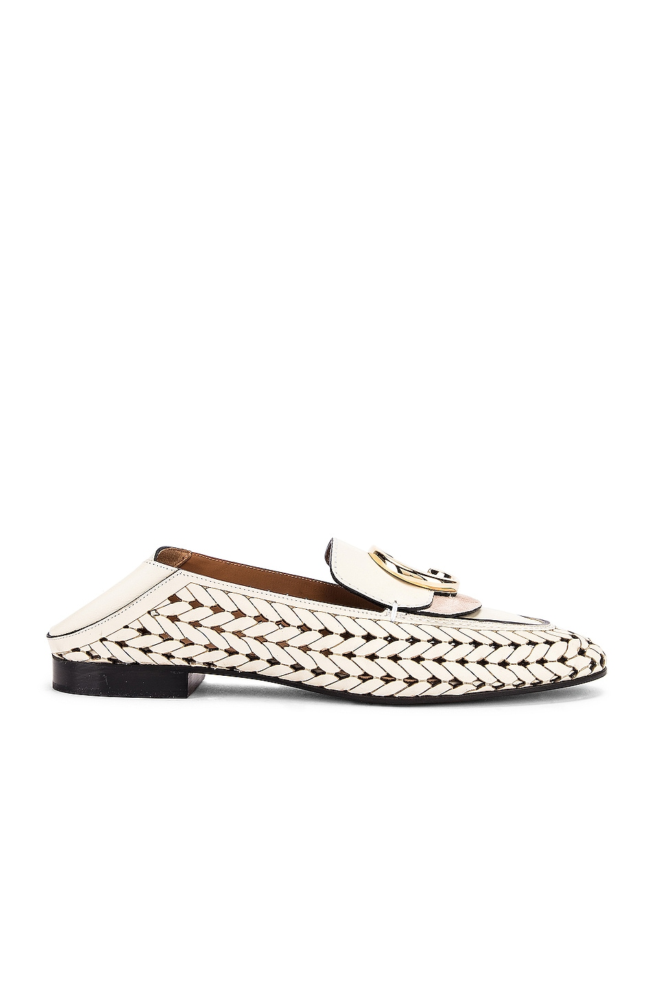 Image 2 of Chloe C Lasered Leather Loafers in White