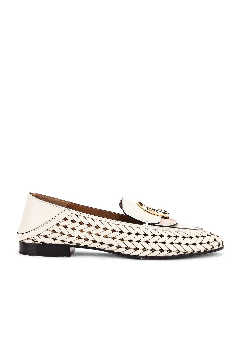 Image 3 of Chloe C Lasered Leather Loafers in White