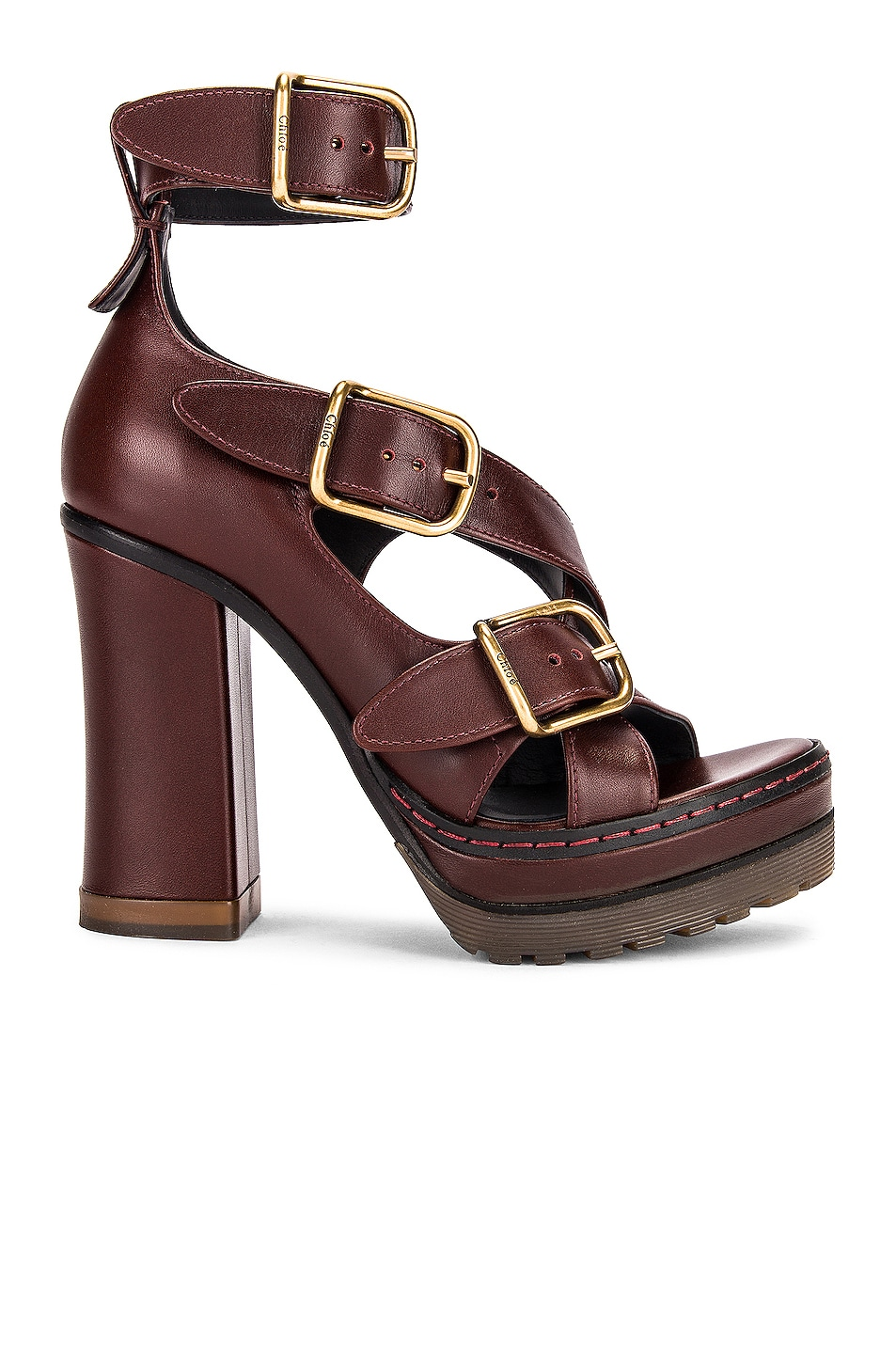 Image 1 of Chloe Daisy Platform Sandals in Hot Tan