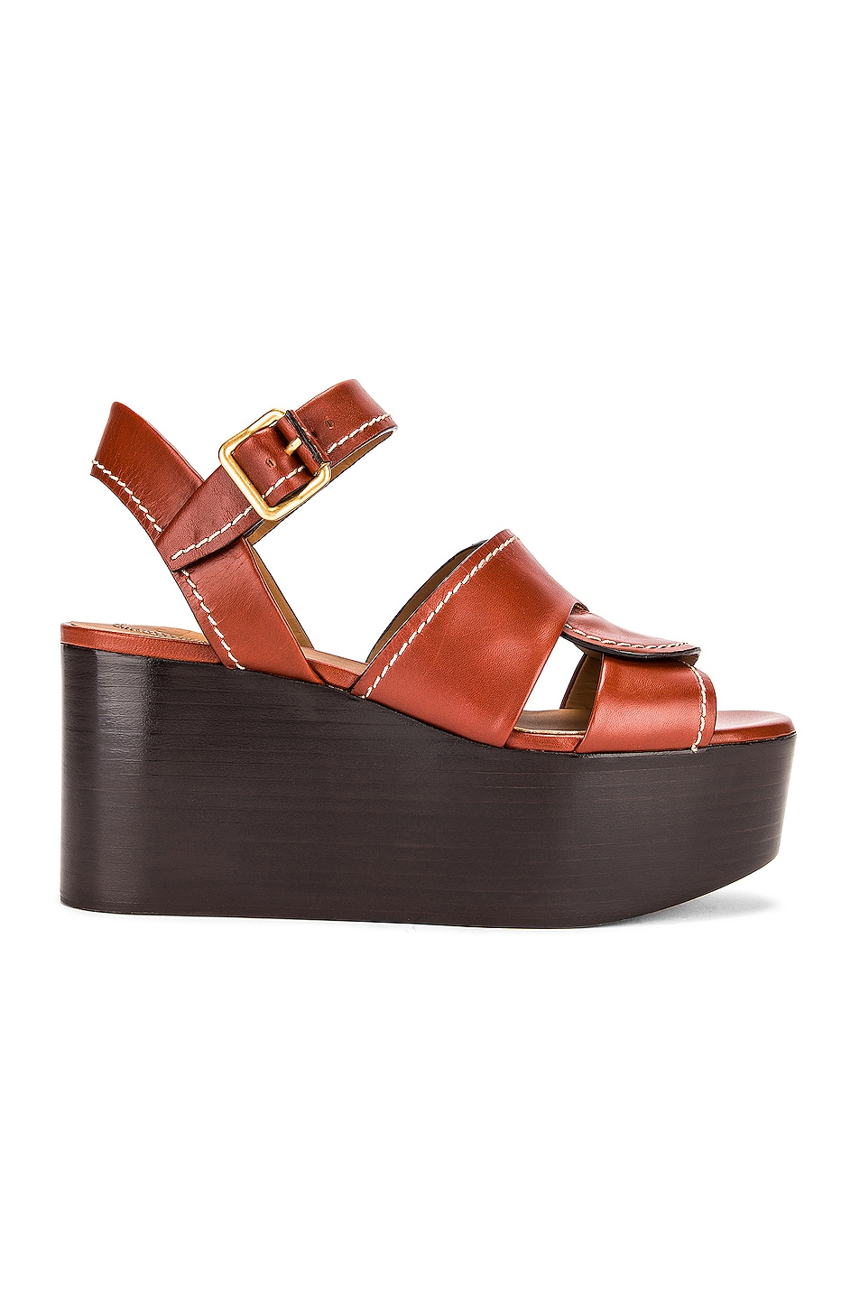 Image 1 of Chloe Candice Platform Sandals in Sepia Brown