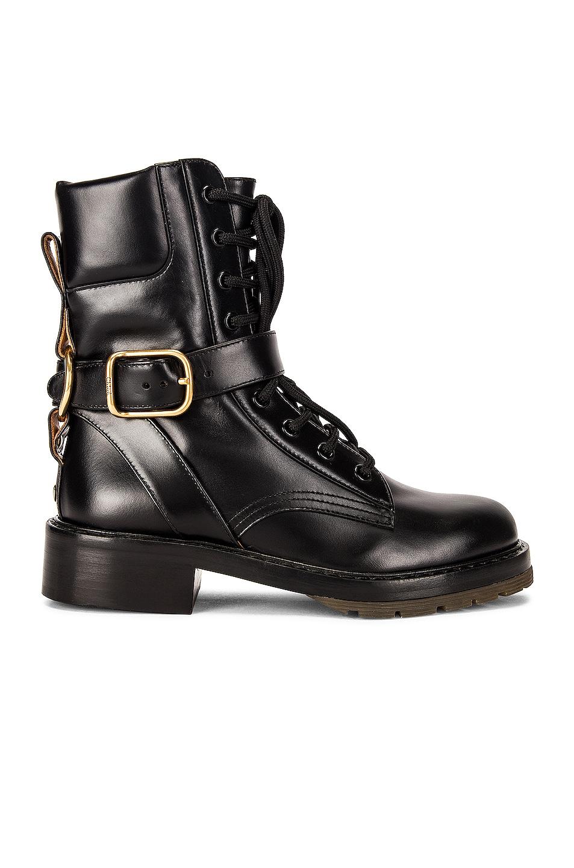 Image 1 of Chloe Diane Combat Boots in Black