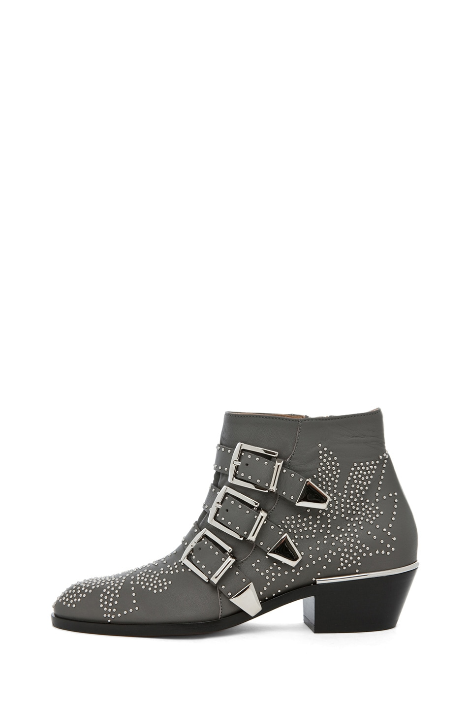 Image 1 of Chloe Susanna Studded Bootie in Charcoal