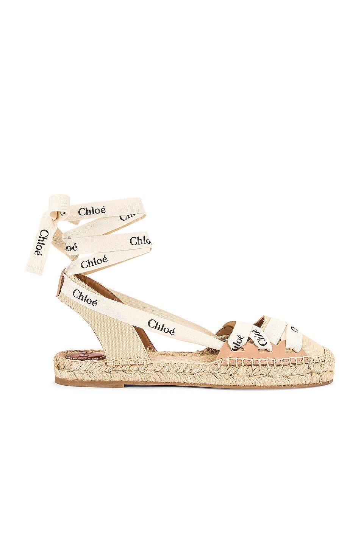 Image 1 of Chloe Lauren Espadrille Flats in Soft Tan