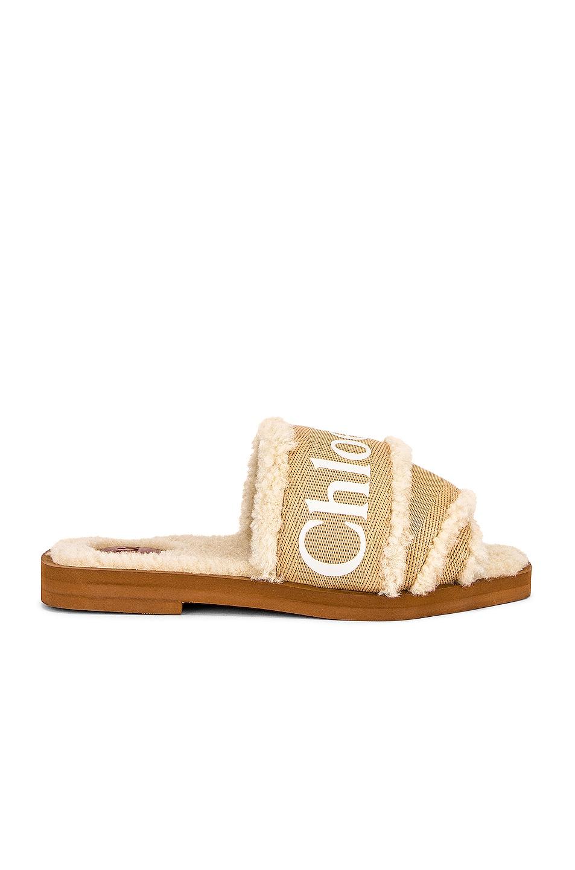 Image 1 of Chloe Woody Slides in Soft Tan