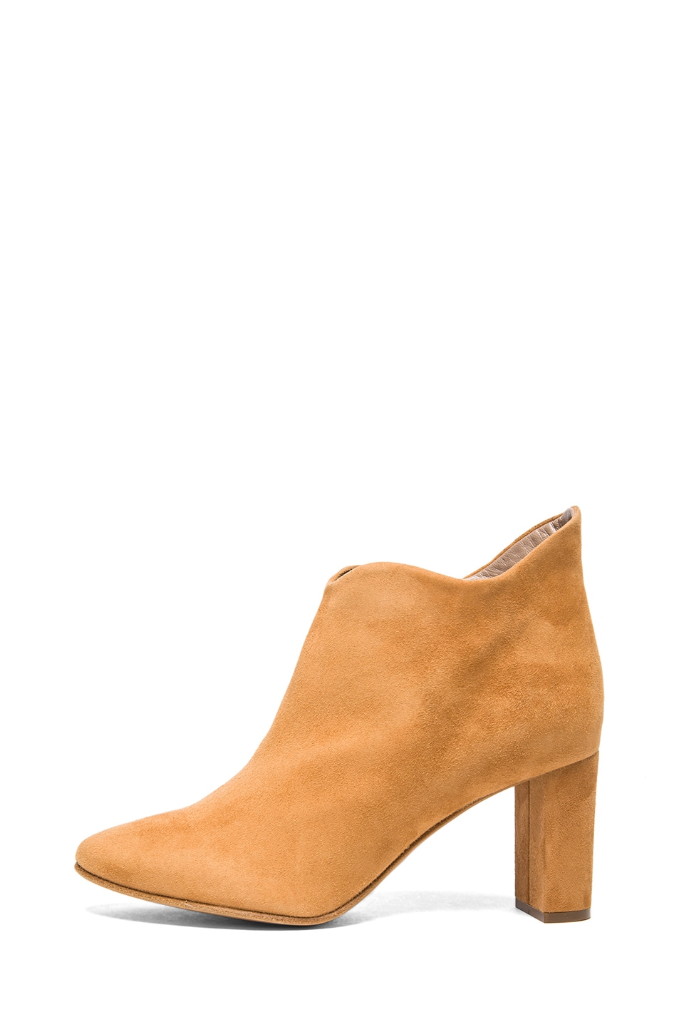 Image 1 of Chloe Suede Booties in Pringle Yellow