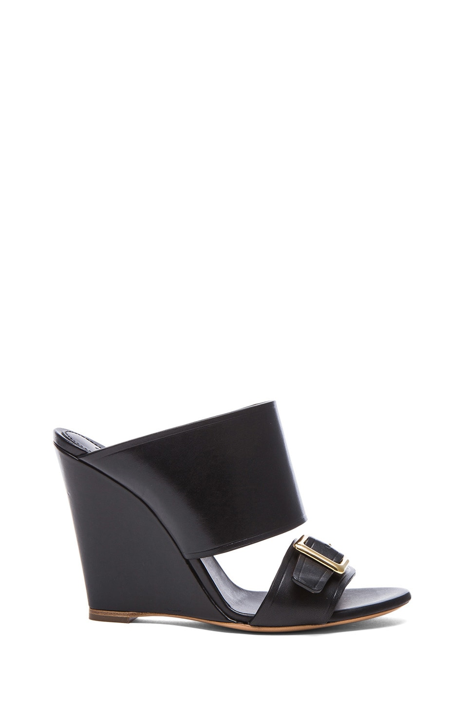 Image 1 of Chloe Strap Leather Mules in Black