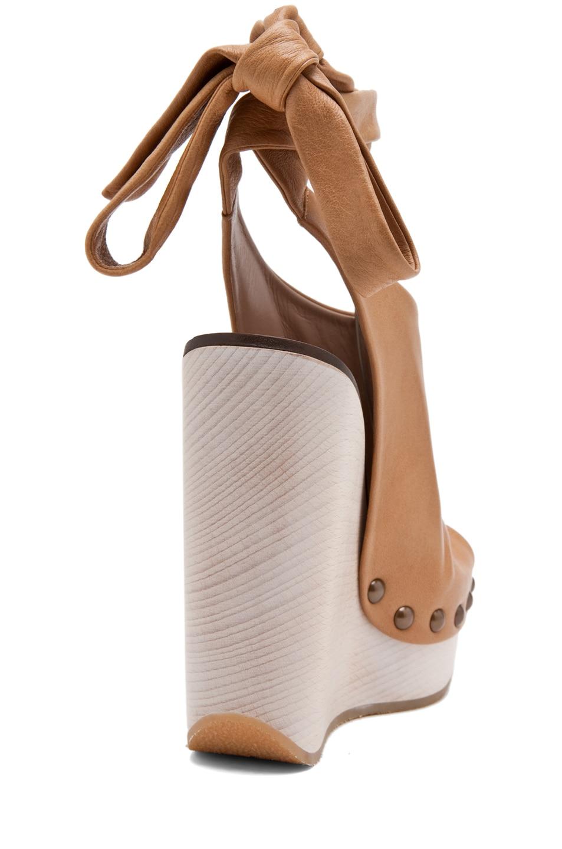 Image 3 of Chloe Leather Wrap Around Wedges in Elah
