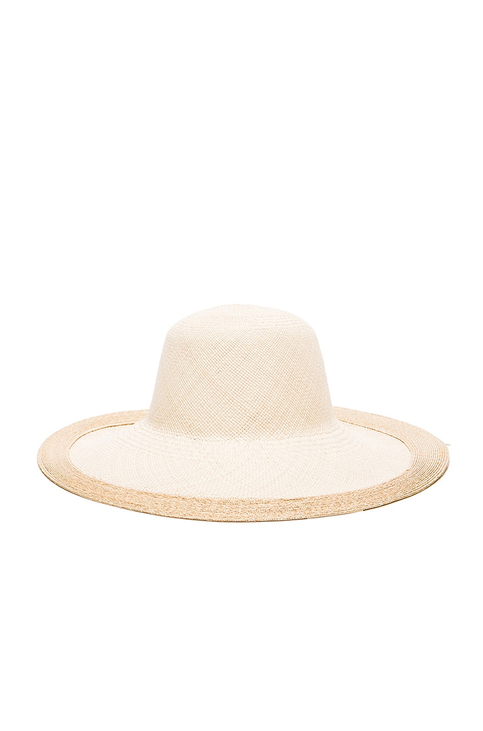 Image 4 of Clyde Colette Hat in Cream & Natural