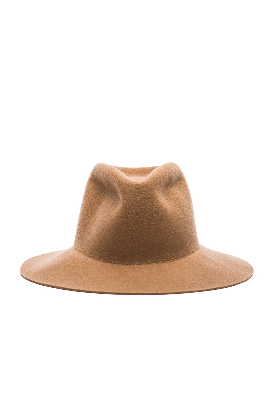 Image 1 of Clyde Short Brim Pinch Hat in Camel