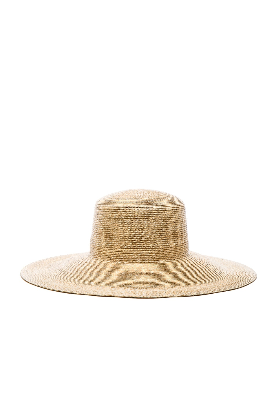 Image 1 of Clyde Wide Brim Flat Top Hat in Natural