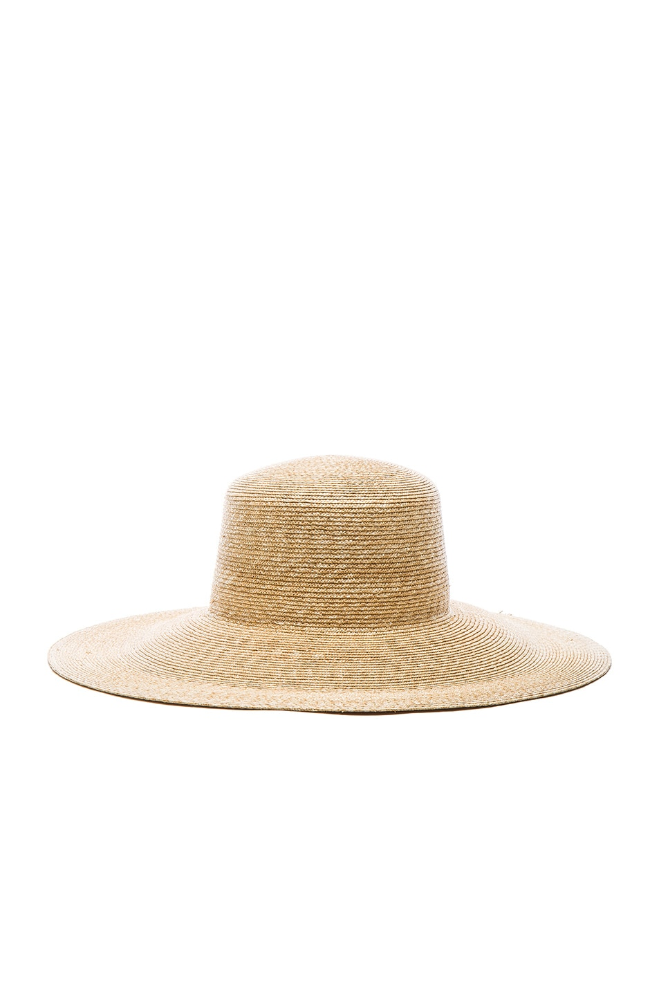 Image 3 of Clyde Wide Brim Flat Top Hat in Natural
