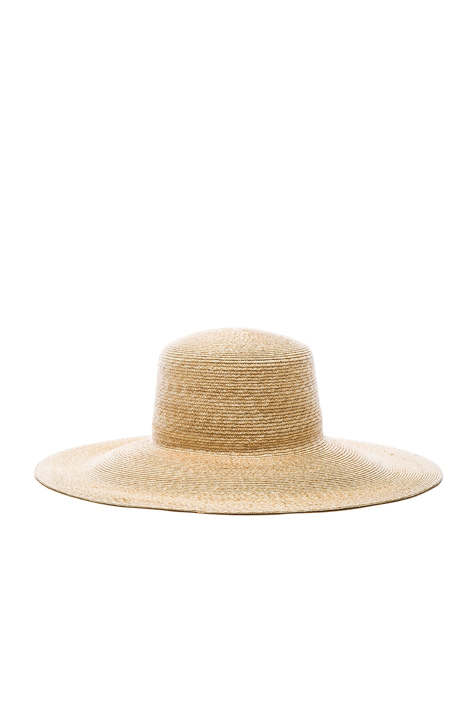 Image 5 of Clyde Wide Brim Flat Top Hat in Natural