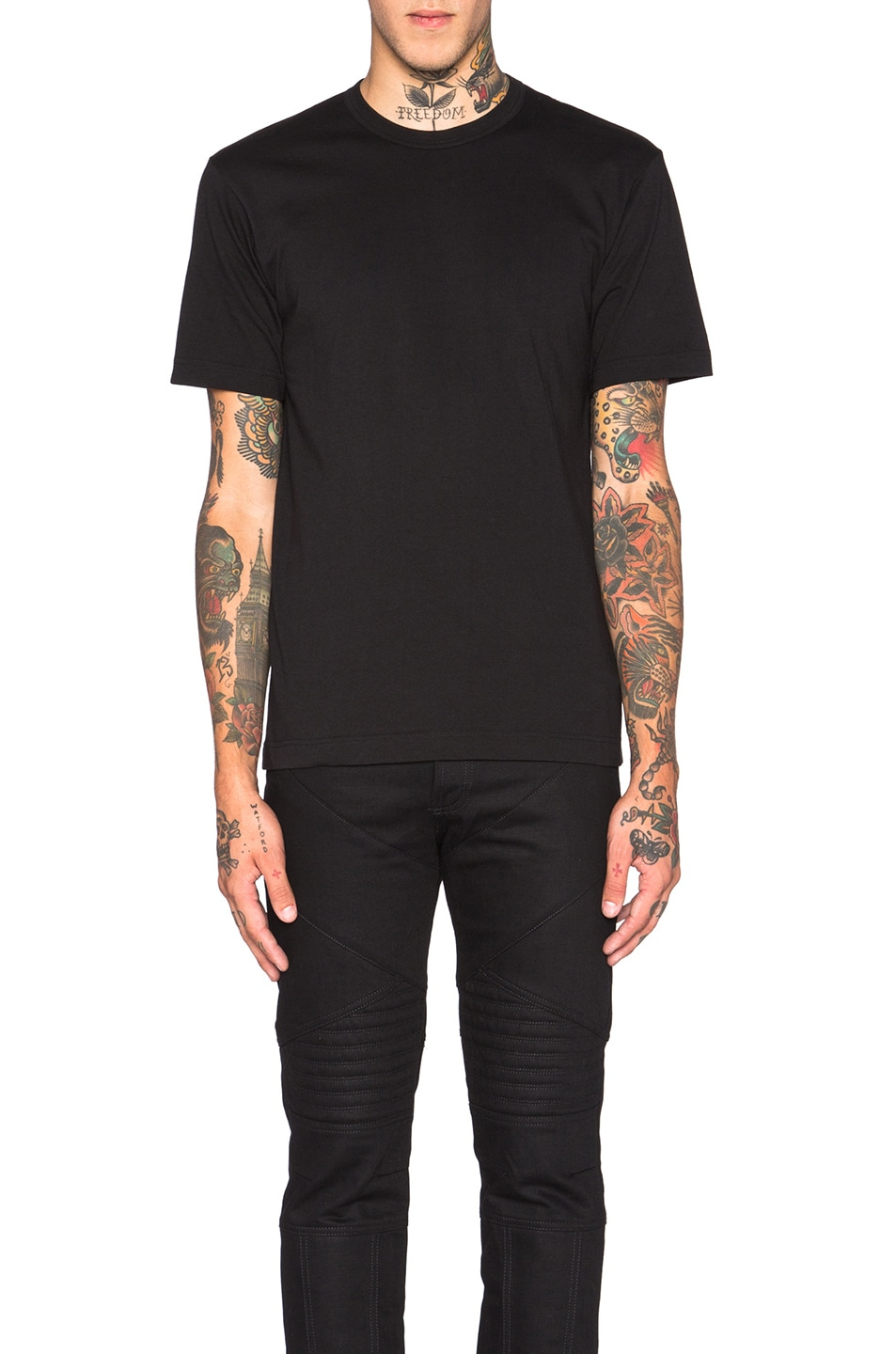 Image 1 of Comme Des Garcons SHIRT 'Forever' Cotton Tee in Black