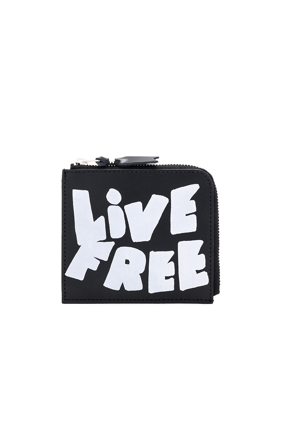 COMME DES GARCONS PLAY MESSAGE WALLET IN BLACK