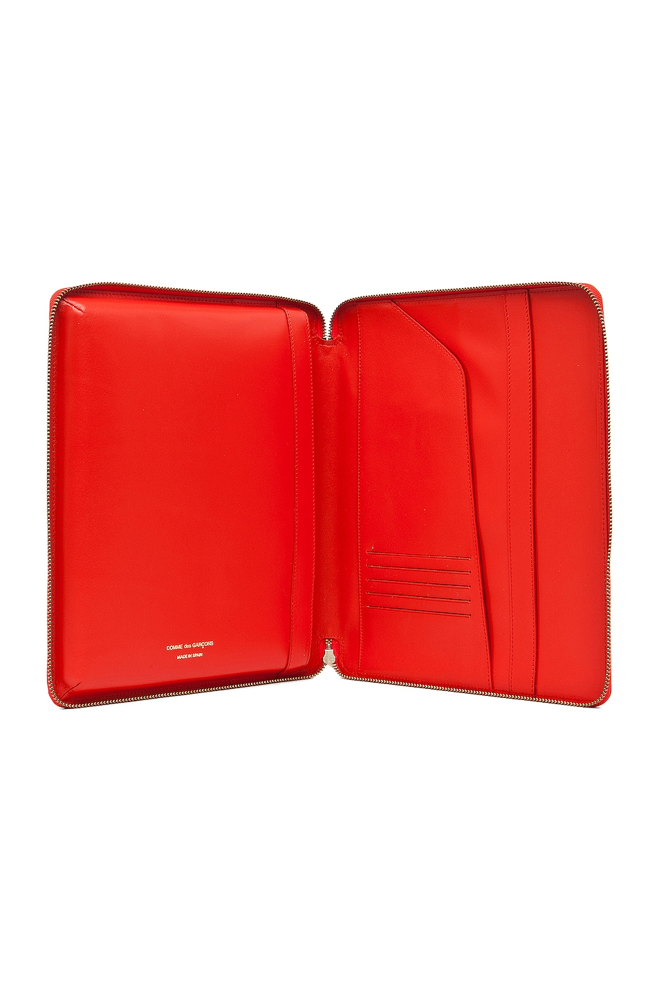 Image 4 of Comme Des Garcons Luxury Leather iPad Case in Orange