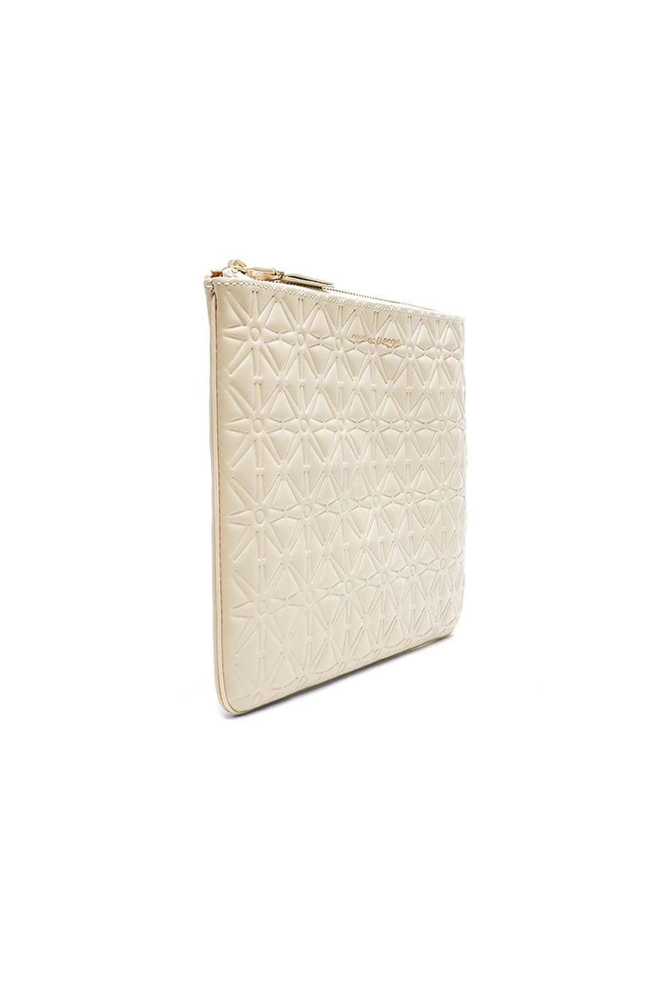 Image 3 of Comme Des Garcons Star Embossed Pouch in Off White