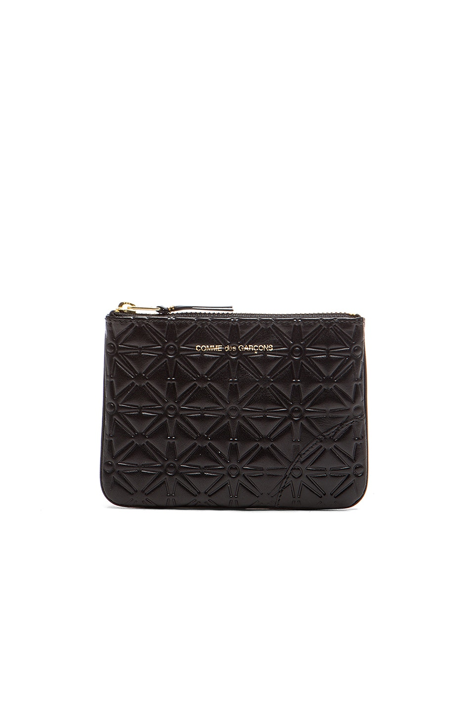 Image 1 of Comme Des Garcons Small Star Embossed Pouch in Black