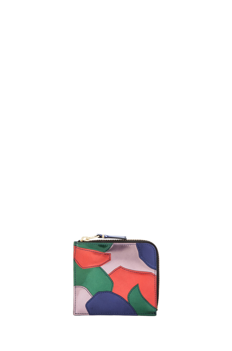 Image 1 of Comme Des Garcons Small Patchwork Metal Zip Wallet in Multi