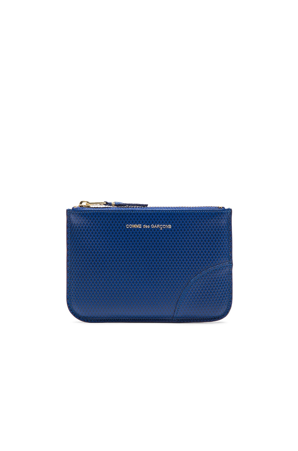 Image 1 of Comme Des Garcons Small Zip Pouch in Blue