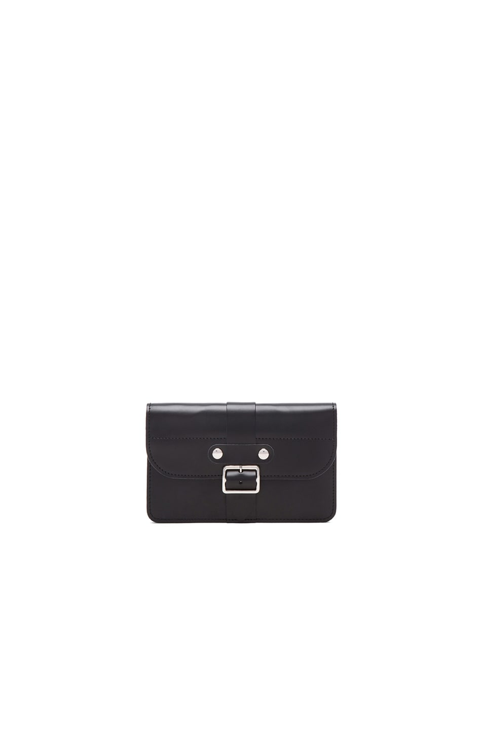 Image 1 of Comme Des Garcons Small 3 Pocket Buckle Wallet in Black