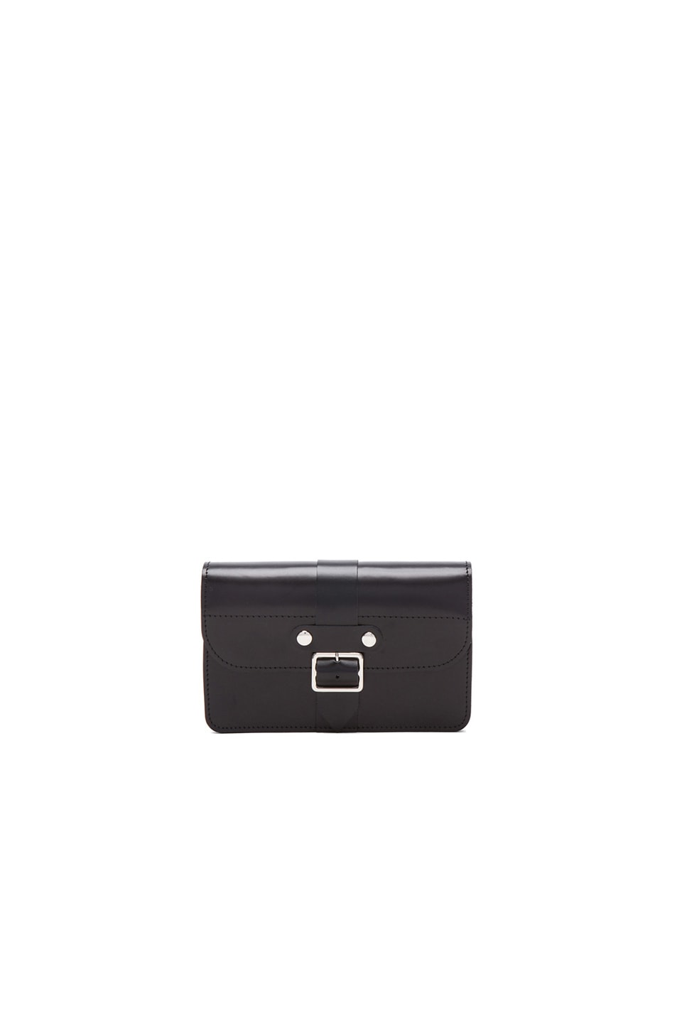 Image 1 of Comme Des Garcons Small 6 Pocket Buckle Wallet in Black