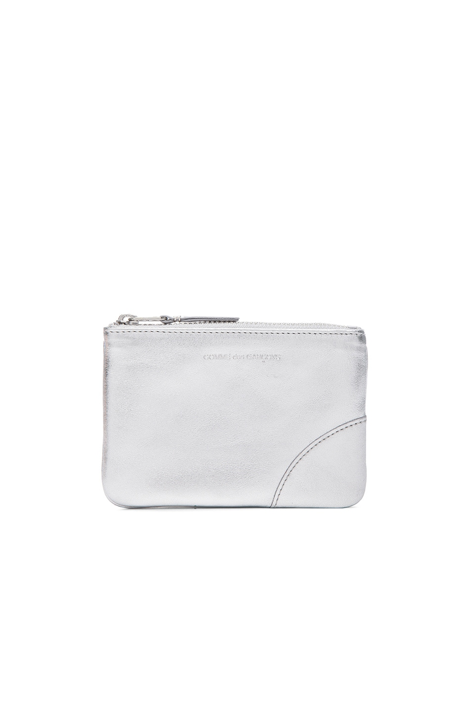 Image 1 of Comme Des Garcons Gold Line Small Pouch in Silver