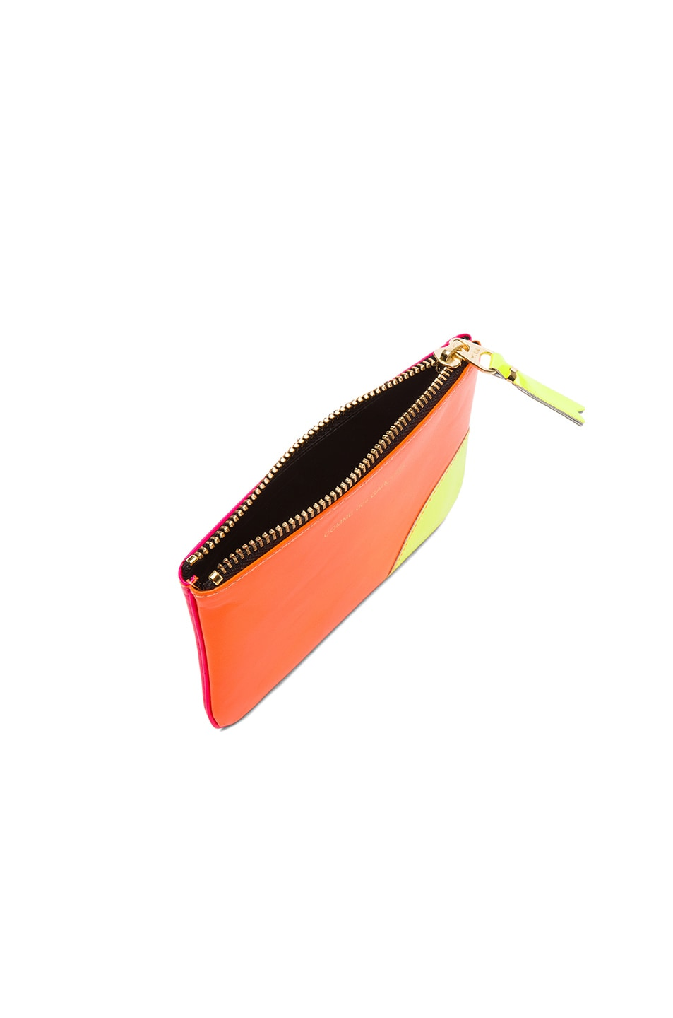 Image 4 of Comme Des Garcons Super Fluo Small Zip Pouch in Orange & Pink