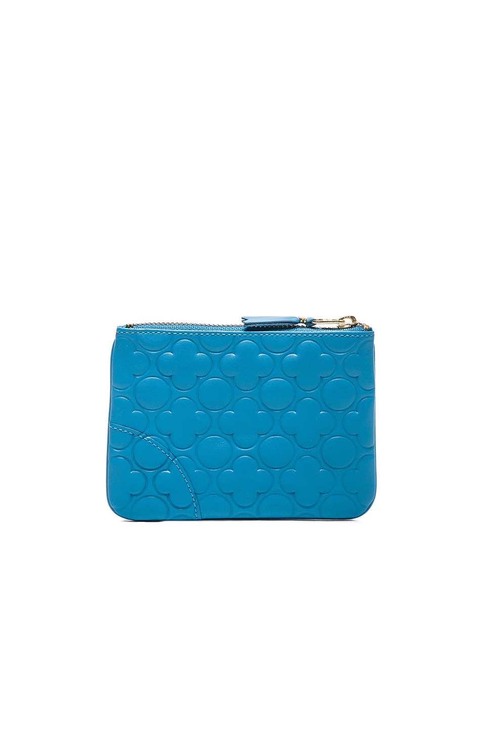 Image 2 of Comme Des Garcons Clover Embossed Small Pouch in Blue