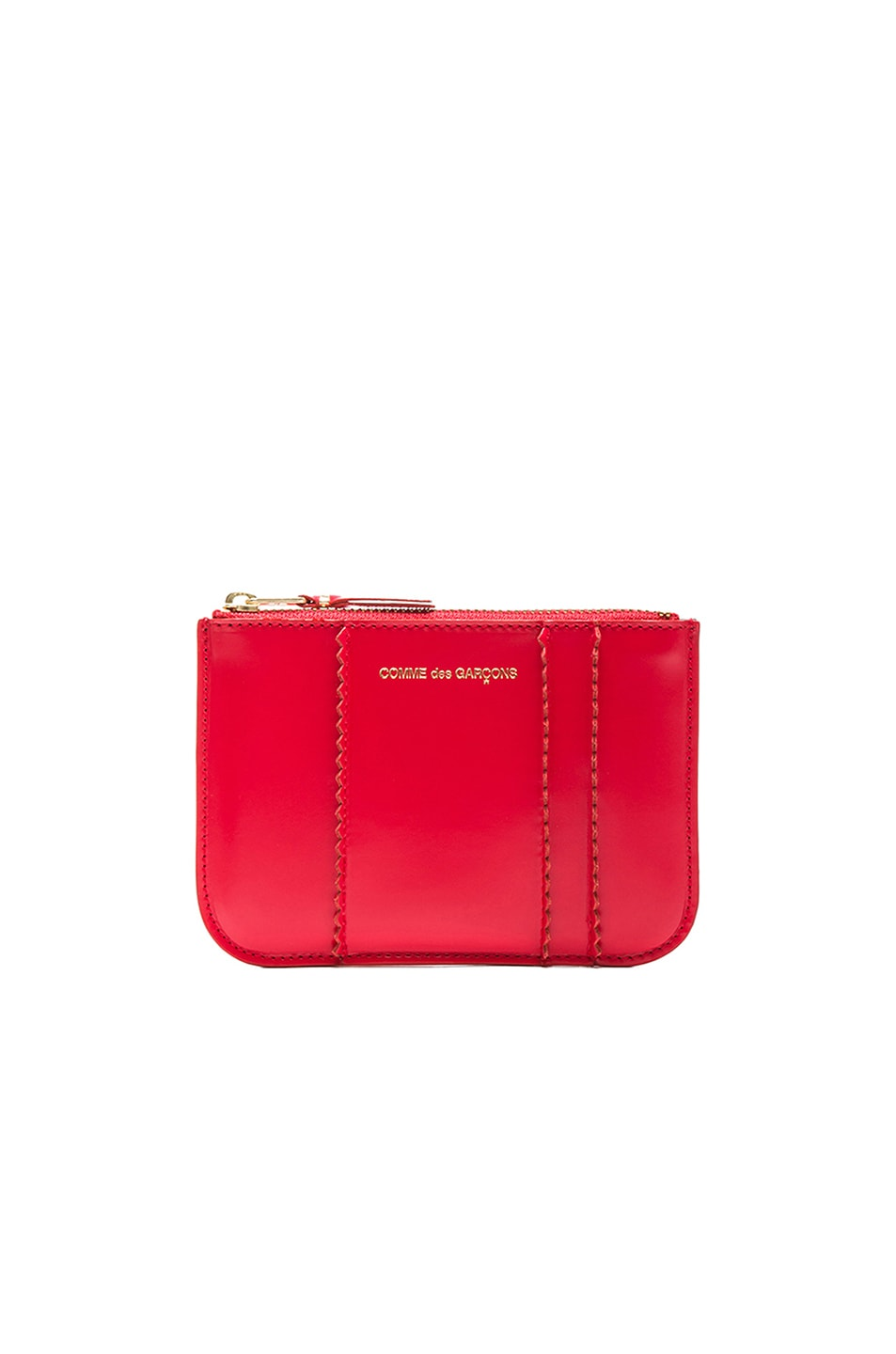 COMME DES GARCONS RAISED SPIKE SMALL POUCH IN RED