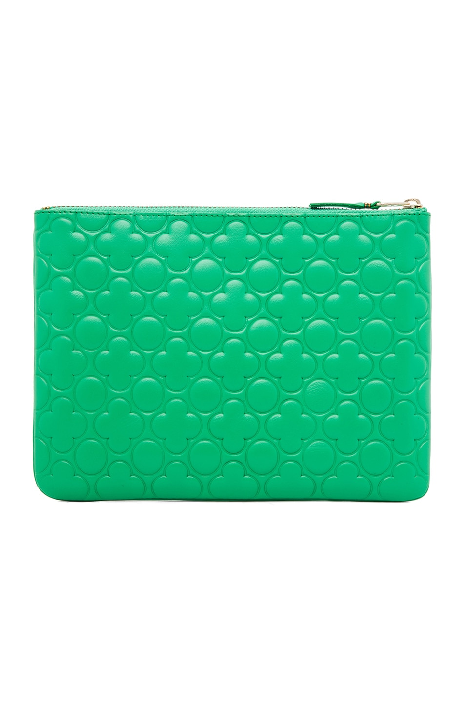 Image 2 of Comme Des Garcons Clover Embossed Pouch in Green
