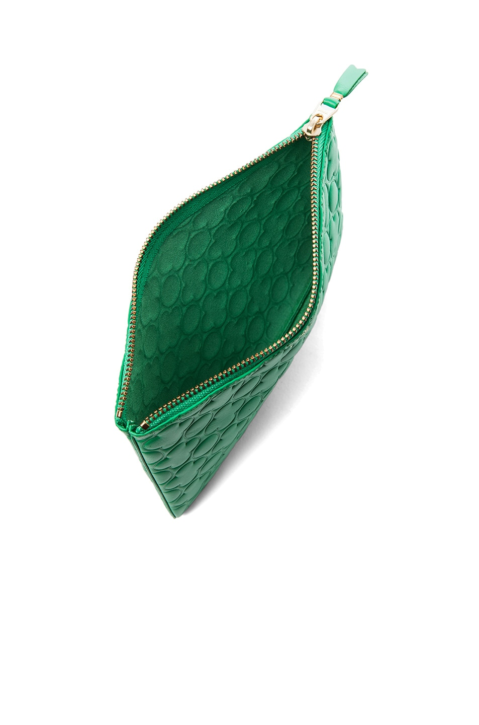 Image 4 of Comme Des Garcons Clover Embossed Pouch in Green