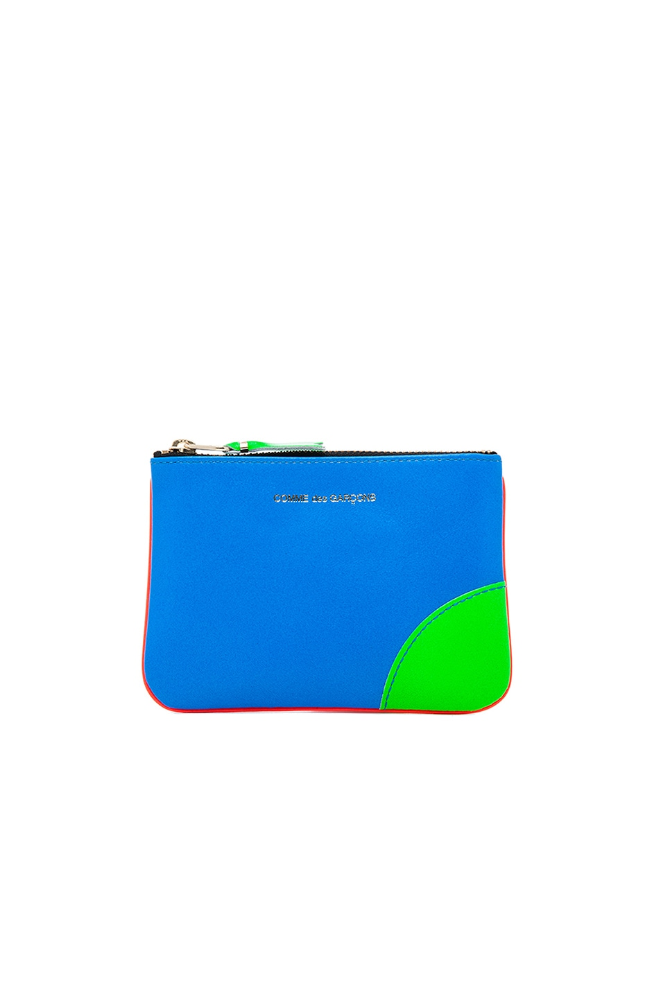 Image 1 of Comme Des Garcons Super Fluo Small Pouch in Orange/Blue