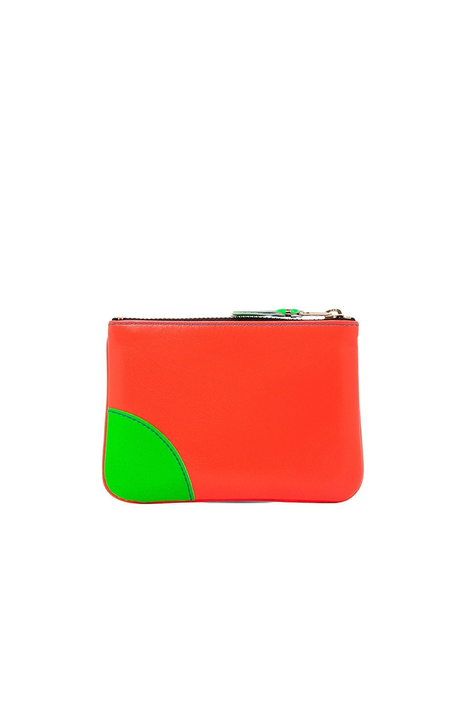 Image 2 of Comme Des Garcons Super Fluo Small Pouch in Orange/Blue