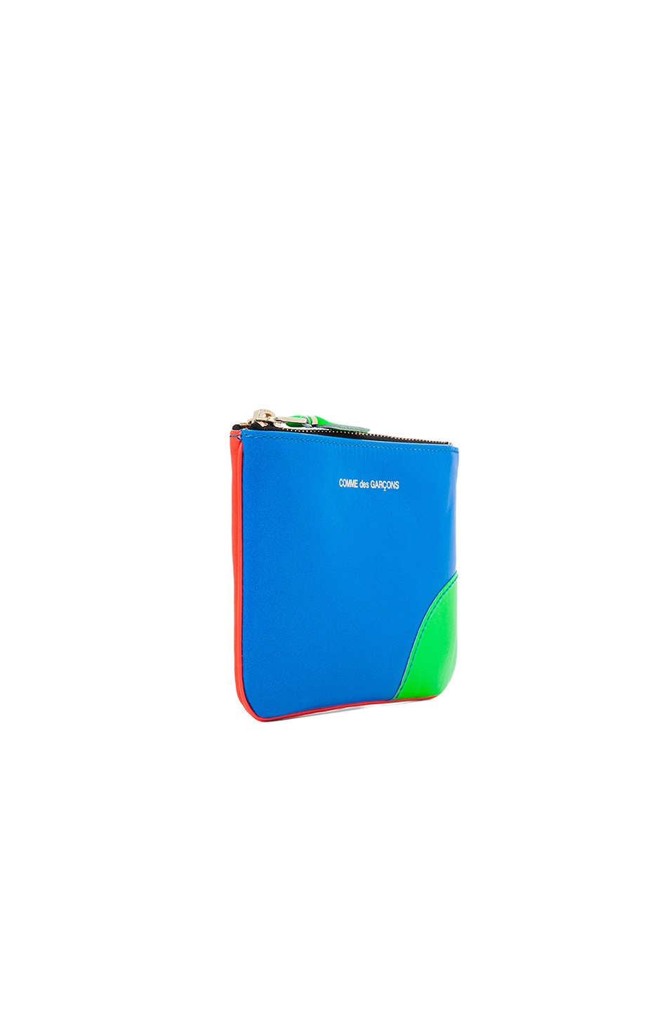 Image 3 of Comme Des Garcons Super Fluo Small Pouch in Orange/Blue