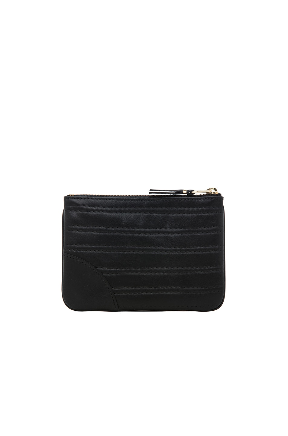 Image 2 of Comme Des Garcons Embossed Stitch Small Pouch in Black