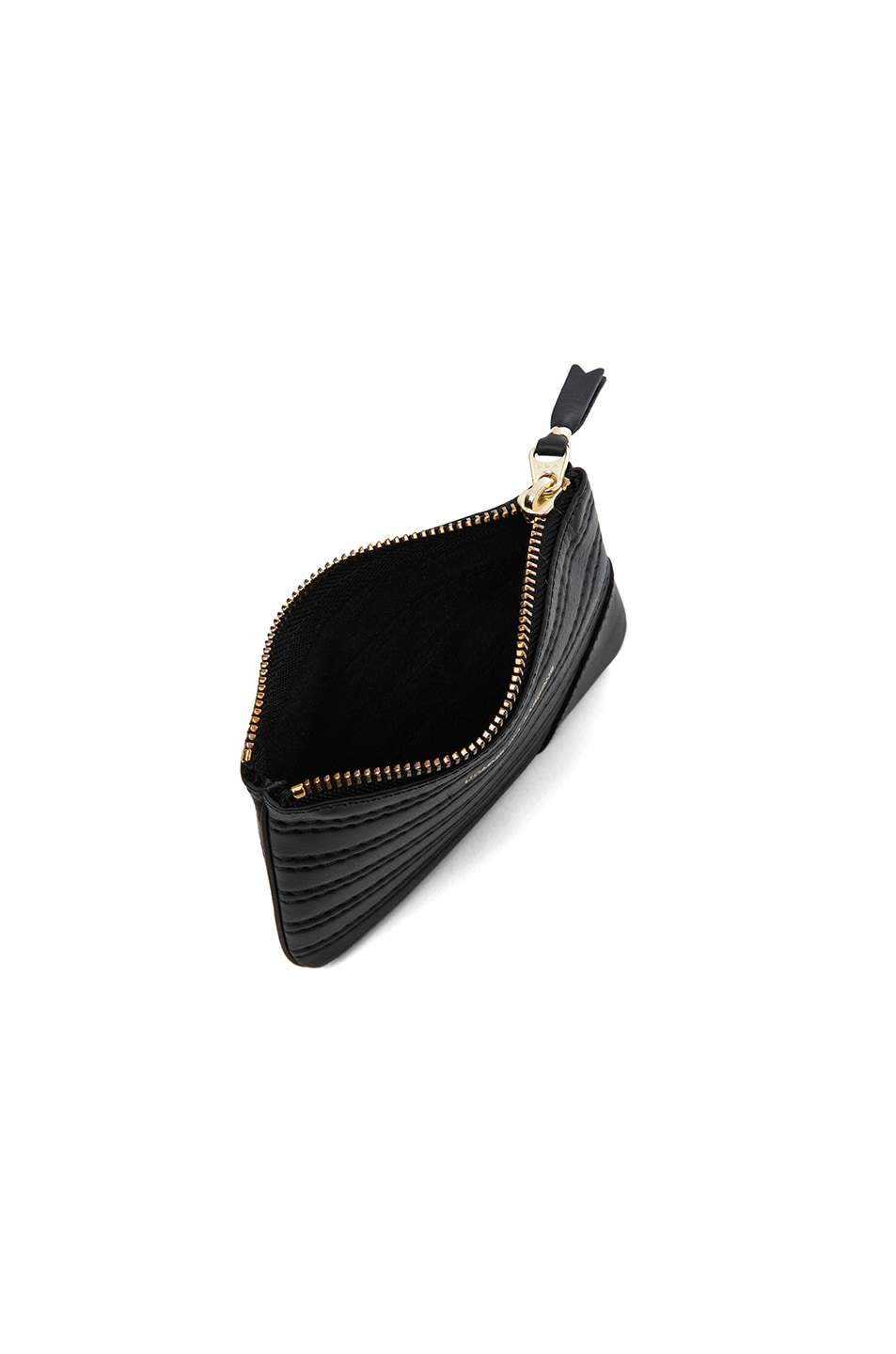 Image 4 of Comme Des Garcons Embossed Stitch Small Pouch in Black