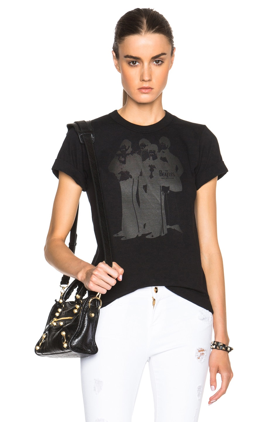 Image 1 of The Beatles x Comme Des Garcons Band Cotton Tee in Black