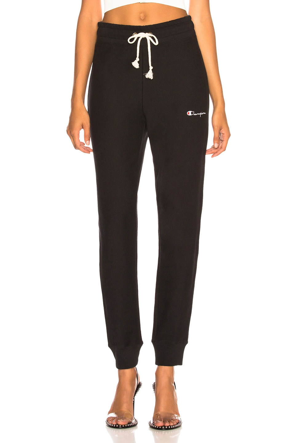 Image 1 of Champion Rib Cuff Pants in Black