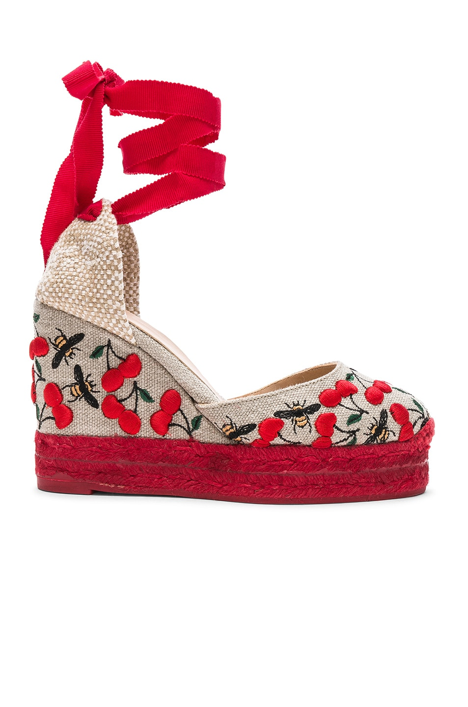 b0434a099fe Castaner Embroidered Canvas Carina Espadrilles in Multicolor   FWRD