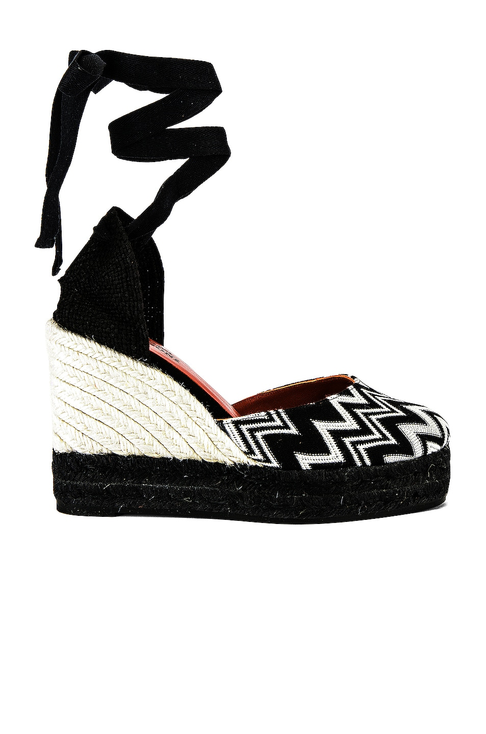 Image 1 of Castaner x MISSONI Carina Wedge Espadrille in Black & White
